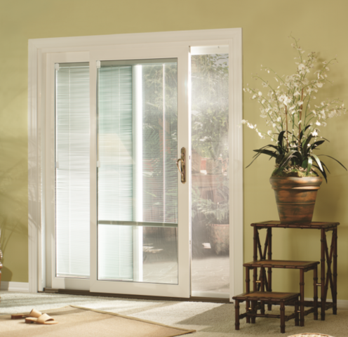 Patio Door with Mini Blinds