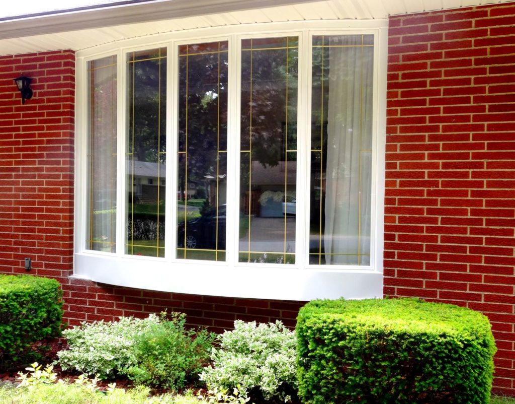 5-pane bow window installed by Brookstone Windows & Doors