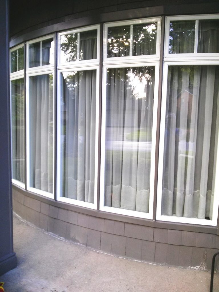 Bow window to brighten up home installed by Brookstone Windows & Doors