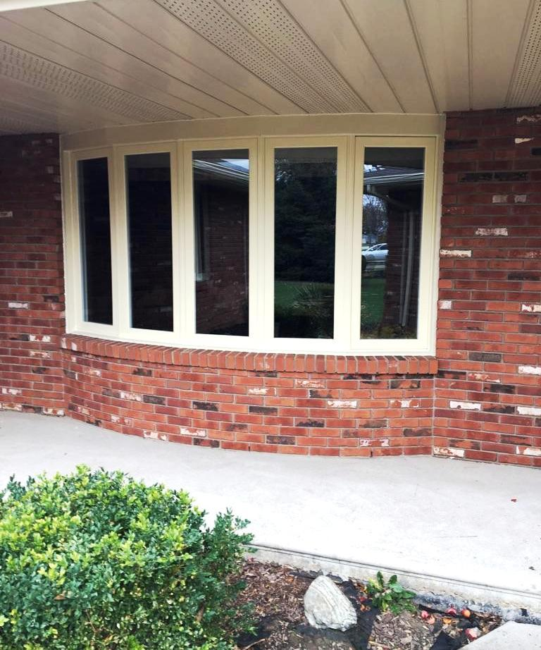 Casement bow window installed by Brookstone Windows and Doors