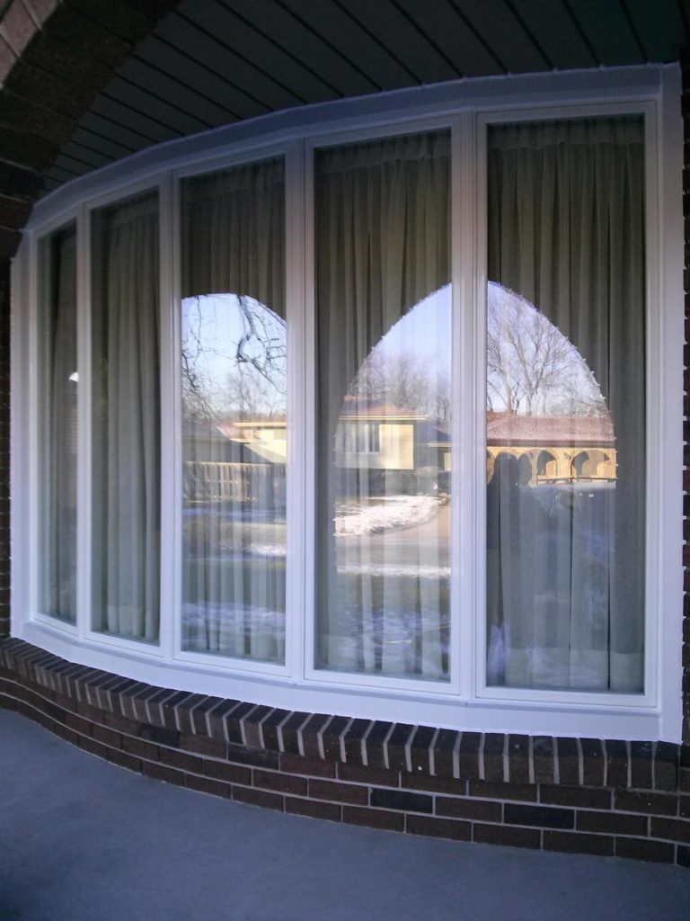 Large bow window installed by Brookstone Windows & Doors
